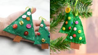 Felt DIY Christmas Tree Decorations Idea