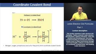 MCAT: Ordinary Covalent Bond vs Coordinate Covalent Bond