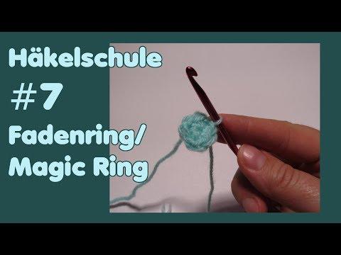Fadenring Magic Ring Häkeln 4 Varianten смотреть онлайн на