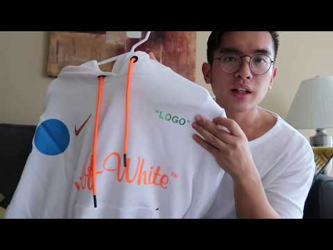 Off White x Nike Mercurial White Hoodie Review and Sizing!!