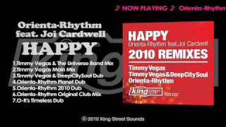 "Orienta-Rhythm feat. Joi Cardwell - ""Happy"" (Timmy Vegas & The Universal Band Mix)"