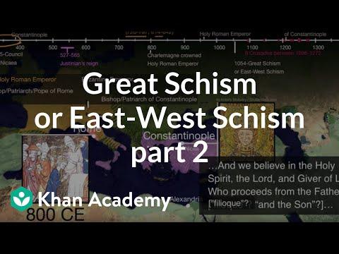 Great Schism Or East West Schism Part 2 Video Khan Academy