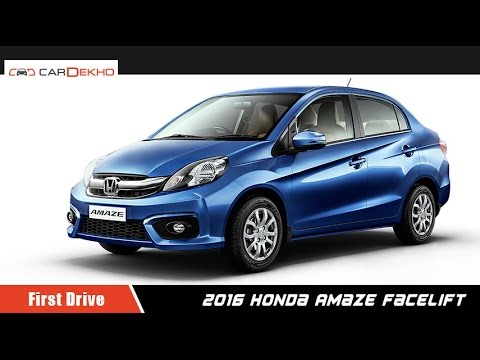 2016 Honda Amaze Facelift | First Drive Review