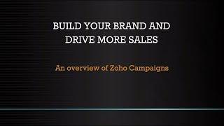 Zoho Campaigns video