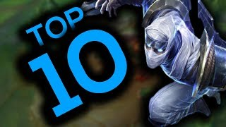 MY TOP 10 FAVORITE ZED PLAYS OF ALL TIME