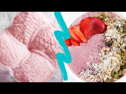 Video Low Sugar Healthy Strawberry Smoothie Bowl