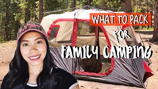 What To Pack For Family Camping With Kids // Camping Essentials
