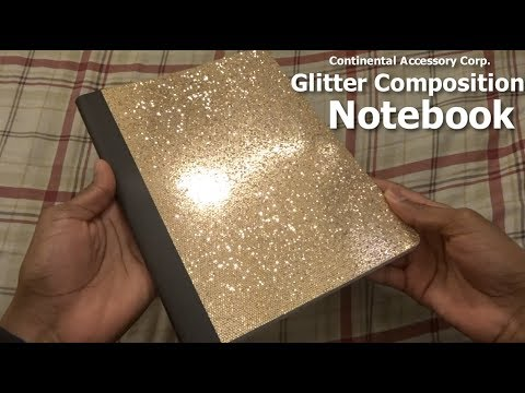 Glitter Composition Notebook (GOLD)