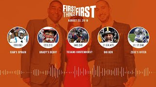 First Things First Audio Podcast(8.23.19) Cris Carter, Nick Wright, Jenna Wolfe | FIRST THINGS FIRST