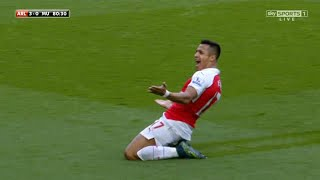 Alexis Sanchez Vs Manchester United Home 1516  English Commentary