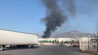 Fuerte incendio en la empresa John Dere