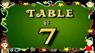 Learn Multiplication Table Of Seven 7 x 1 = 1 | 7 Times Tables | Fun & Learn Video