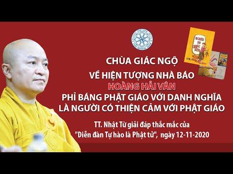 Về việc nhà báo Hoàng Hải Vân phỉ báng Phật giáo