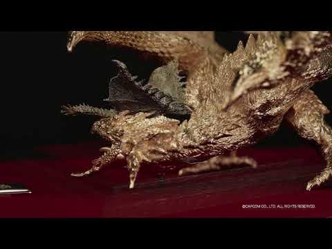 《魔物獵人 世界》「金火龍」與「銀火龍」雕像發售