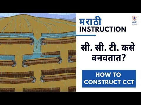 How to Construct Continuous Contour Trenches (Marathi)
