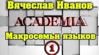 Макросемьи языков / Вячеслав Иванов. 1 часть