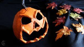 Paper Mache Pumpkin Tutorial   DIY Halloween Decor   The Sweetest Journey