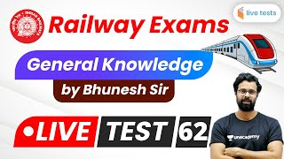 9:00 PM - RRB NTPC/Group D 2020 | General Awareness By Bhunesh Sir | Live Test-62