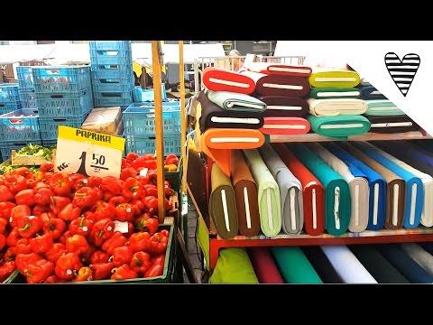 FMA Stoffmarkt am Maybachufer Berlin / Stoff kaufen und türkisch Essen in Neukölln