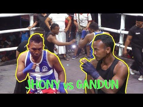 JOHNY HUNTER vs GANDUN - Pencak Dor Terbaru JOHO Wates Kediri 2019-