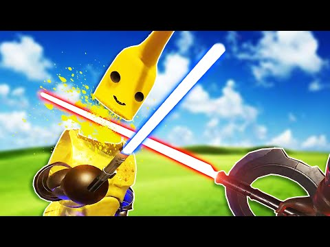 Chopping Up My Banana Friend in Blade and Sorcery VR Online Multiplayer!