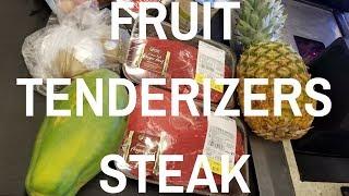 Best way tenderize steak tenderizing fruit kiwi pineapple papaya Harry Soo seasoning tenderizeroin