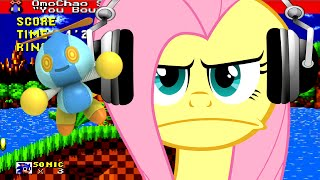 Fluttershy Plays Sonic The Hedgehog Omochao Edition 🍉 | HORRIBLE!