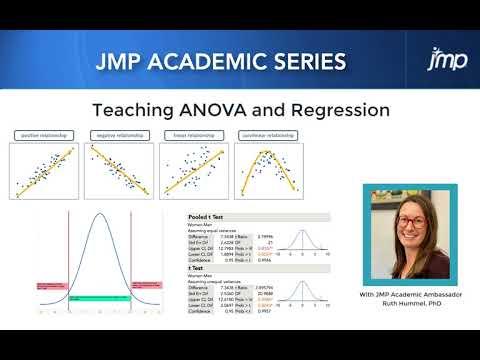 JMP Academic Series: Teaching ANOVA and Regression