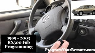 How To Program A Lexus RX300 Remote Key Fob 1999 - 2003