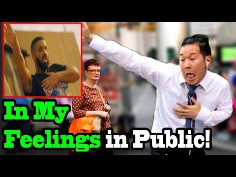 drake in my feelings dance kiki challenge in public shiggy c