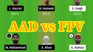 AAD vs FPV dream 11 team suggest // fantasy cricket lovers