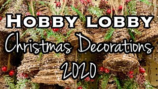 HOBBY LOBBY CHRISTMAS DECORATIONS 2020 • CHRISTMAS DECOR 2020 • SHOP WITH ME • STORE WALK THROUGH