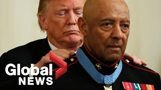 President Donald Trump presents Congressional Medal of Honor