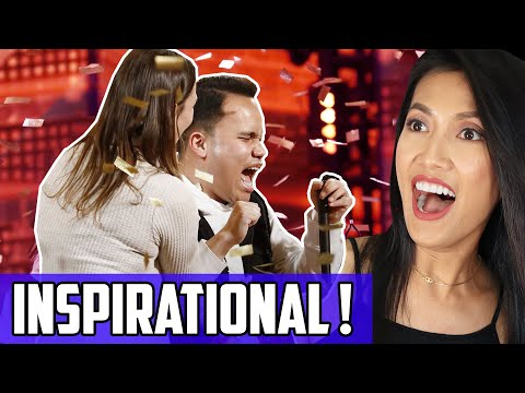 America's Got Talent (AGT) Golden Buzzer Reaction: Kodi Lee Overcoming Blindness and Autism W/ Music! (видео)