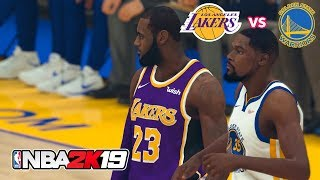 NBA 2k19 Gameplay Lakers vs GSW Hall of Fame Difficulty