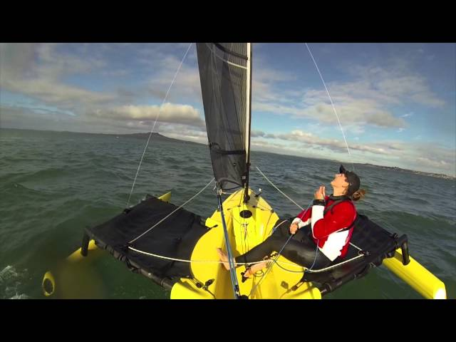 How to sail without using the tiller on the Weta Trimaran