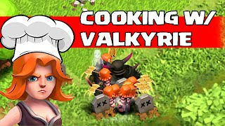 Clash Of Clans - COOKING w/ VALKYRIE Tips & Tricks (Valkyrie Gameplay)