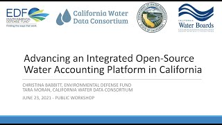 Water Accounting and Data for SGMA