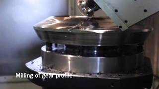 Video Gia công bánh răng côn xoắn