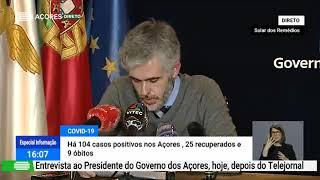 24/04: Ponto de Situação da Autoridade de Saúde Regional sobre o Coronavírus nos Açores