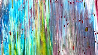Colors Of You  Colorful Gerhard Richter Inspired Abstract Painting Demonstration
