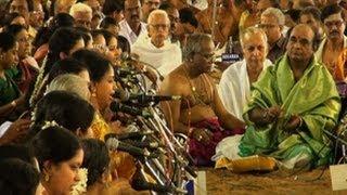 Rendering of Dudukugala in Gowla Raaga; Pancharatna kritis, Tyagaraja Aradhana