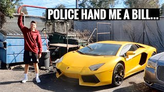 RESCUING MY LAMBORGHINI AVENTADOR FROM THE IMPOUND LOT!