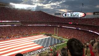 National Anthem & B2 Stealth Bomber Flyover at Arrowhead Stadium