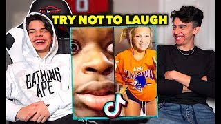 TIK TOK TRY NOT TO LAUGH CHALLENGE vs MY BROTHER