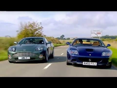 Aston Martin Vanquish vs Ferrari 575   Part 2   Top Gear