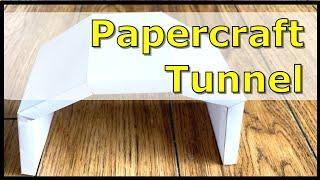 トンネルのペーパークラフト工作作り方動画