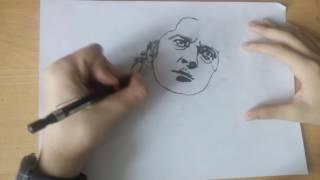 Рисунок карандашом Михаил Горшенёв Король и шут #3