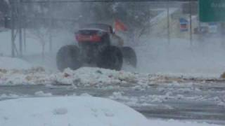 Monster Jam - Advance Auto Parts Grinder Monster Truck In The Snow!