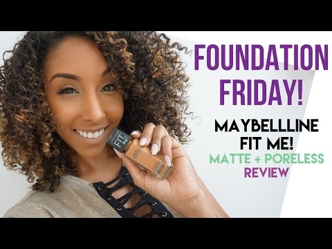 Foundation Friday! Maybelline Fit Me Matte + Poreless Foundation Review!| BiancaReneeToday